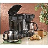 Dual Coffee Maker Black
