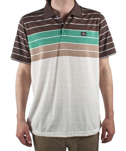 LRG Children Of Vision Mens Polo Shirt Jersey in Natural Heather, Size X-Large
