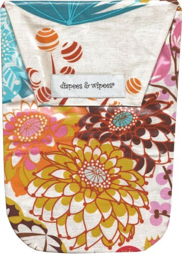 Diapees & Wipees Waterproof Jubilee Flower Baby Diaper and Wipes Bag