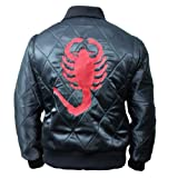 Samnas Traders Drive Ryan Gosling Embroidered Scorpion True Replica Jacket by NYC Leather Factory Outlet