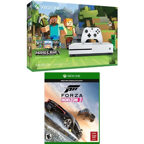 xbox one 500gb console minecraft horizon xb play again. Black Bedroom Furniture Sets. Home Design Ideas