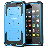 i-Blason Amazon Fire Phone Case - Armorbox Dual Layer Hybrid Full-body Protective Case with Front Cover and Built-in Screen Protector / Impact Resistant Bumpers (Blue)