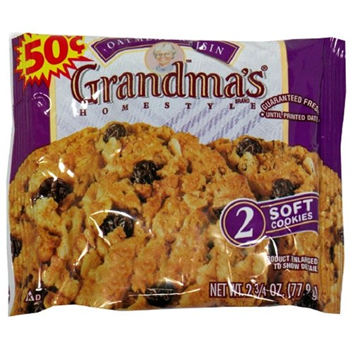 Grandma's Big Cookie, Oatmeal Raisin, 2.75-Ounce Packages (Pack of 60)