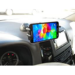 Car Mount, High Grade Universal Car Dash Mount / Windshield Mount for Samsung Galaxy Note 7 6 5 4 S8 S7 S6 S5 Edge / Motorola Droid Turbo, Maxx, Moto G4 and All 4-6 inch Devices (use with or without case)