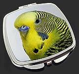 Yellow Budgerigar, Budgie Make-Up Compact Mirror Christmas Gift