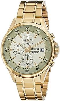 Seiko Chronograph Gold-Tone Men's Watch