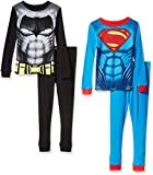 Boys' Batman Vs Superman 4pc Cotton Sleepwear