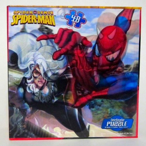 Spider Sense Spider-Man & Black Cat 48 Piece Lenticular Puzzle