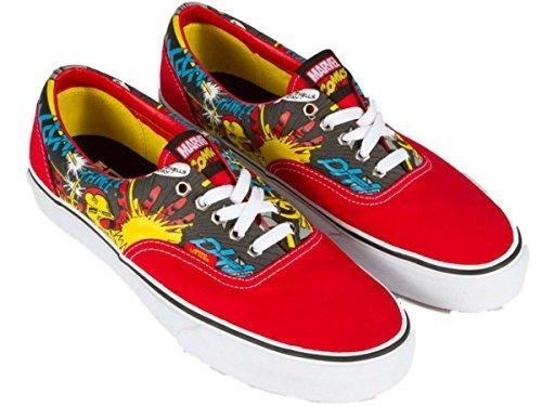 Vans Ironman Era Men's Shoes Marvel Comics LO Sneakers Red White (Marvel Shoes Men compare prices)