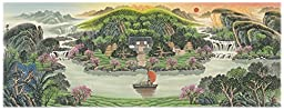 Feng Shui,Office Feng Shui Products for Wealth Green Landscape Artwork Painting 40\