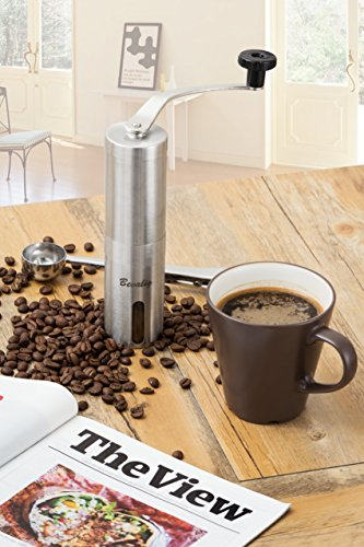 Manual-Coffee-Grinder-with-Travel-Pouch-Spoon-and-Cleaning-Brush-Ceramic-Conical-Burr-for-Precision-Brewing-Stainless-Steel-Hand-Crank-Mill