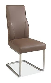 freischwinger schwingstuhl braun kunstleder desmond 1 db460. Black Bedroom Furniture Sets. Home Design Ideas