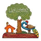 999Store welcome tree plate door hanging handicraft gift item home décor hand peocock painting