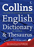 COLLINS ENGLISH DICTIONARY AND THESAURUS. (0007224052) by No author.