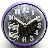 Lorus Purple Bedside Bleep Alarm Clock Sweeping quiet Seconds