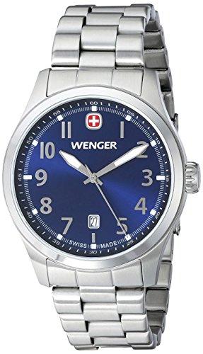 Wenger 010541118 - Reloj de pulsera hombre, acero inoxidable, color plateado