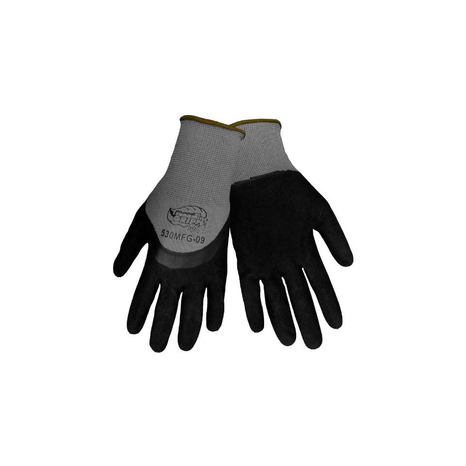 Global Glove 530MFG Tsunami Grip Nitrile Glove, Work, Medium, Gray/Black (Case of 72)