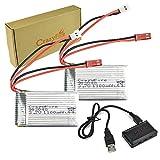CrazyFire MJX T04/T05/T25/M03/F28/F29/M1/L1用 バッテリー 110mAh 3.7V LIPO 2個セット アップグレード リポバッテリー