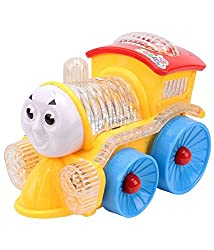 Zaprap Multicolor Musical Funny Loco Train Engine with flashing Led Lights