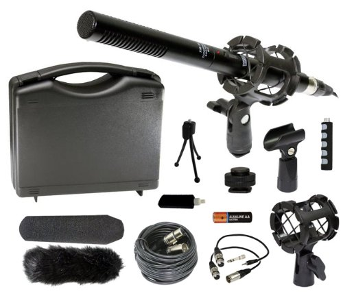 Professional Dslr Microphone Kit For Canon Eos 5D Mark Ii Iii 6D 7D 60D 60Da T5I T4I T3I T3 M Sl1