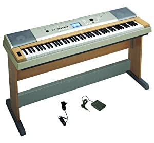 Yamaha YPG-635 88-Key Portable Grand Piano with Stand, Power Supply, and Sustain Pedal