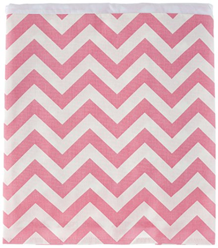 Sweet Potato Swizzle Crib Skirt, Pink/White