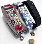 2015 Latest Band Set For Fitbit Flex, Deruitu(TM) Replacement bands Set, Newest Layout, Water Transfer Printing Set With Metal Clasps for Fitbit Flex Activity Tracker/ Wireless Activity+Sleep Wristband/ Sport Bracelet/ Sport Armband (2015 NEW 3PCS SET, Large)