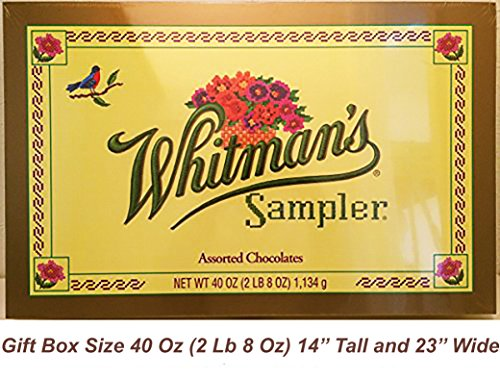 Whitman's Giant Sampler of Assorted Premium Chocolates, 40oz Box- 14
