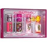 ED HARDY VARIETY by Christian Audigier Gift Set for WOMEN: 4 PIECE WOMENS MINI SET WITH ED HARDY & ED HARDY HEARTS & DAGGERS & ED HARDY BORN WILD & ED HARDY VILLAIN & ALL ARE EAU DE PARFUM SPRAY .25 OZ MINIS