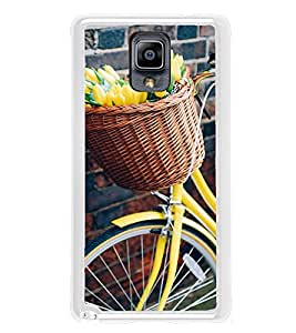 Flowers Basket Cycle 2D Hard Polycarbonate Designer Back Case Cover for Samsung Galaxy Note 3 :: Samsung Galaxy Note III :: Samsung Galaxy Note 3 N9002 :: Samsung Galaxy Note N9000 N9005