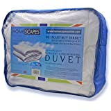 Homescapes - Ultrasoft Super Microfibre - All Seasons Duvet ( 9.5 + 4.5 Tog ) - Single Size - The Best Synthetic Duvets designed for And Used By The Best 5 and 7 Star Hotels From Around The World - Anti Allergy - Anti Dustmite - Box Baffel Construction - Washable at Home