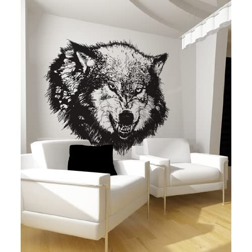 Vinyl Wall Decal Sticker Angry Wolf Item789m