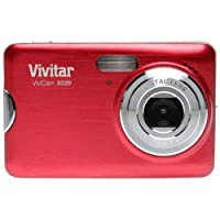 "Vivitar Vivicam X029 10.1 Megapixel Digital Camera with 4x Digital Zoom and 2.4"" Viewing Screen - Strawberry finish"