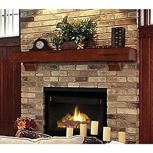 Amazon.com - Shenandoah Fireplace Mantel Shelf Finish: Cherry Rustic