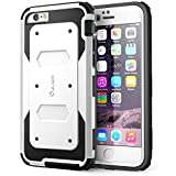 iPhone 6 Case, i-Blason Apple iPhone 6 Case 4.7 inch Armorbox Dual Layer Hybrid Full-body Protective Case with Front Cover and Built-in Screen Protector / Impact Resistant Bumpers for iPhone 6 (White)