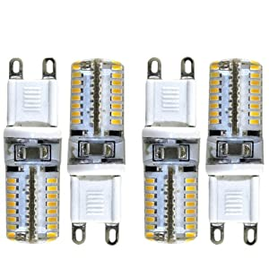 IDACA 4X G9 3W 64LED 3014SMD 220V Ampoule Lampe Spot LED (Blanc Chaud)