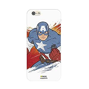 Hamee Original Marvel Character Licensed Designer Cover Slim Fit Plastic Hard Back Case for iPhone 6 / 6s (Captain America / Fade)