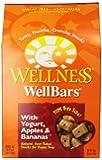 Wellness WellBars Natural Wheat Free Oven Baked Dog Treats, Yogurt, Apples & Banana Biscuits, 50-Ounce Box