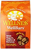 Wellness Wheat Free Oven Baked Biscuits for Dogs, WellBars Yogurt, Apples and Banana, 50-Ounce Box