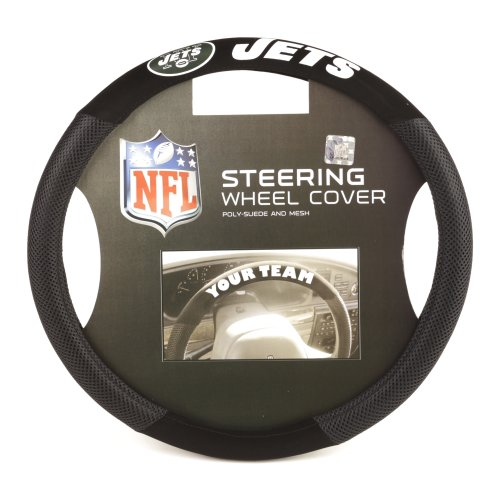 NFL New York Jets Poly-Suede Steering Wheel Cover at Amazon.com