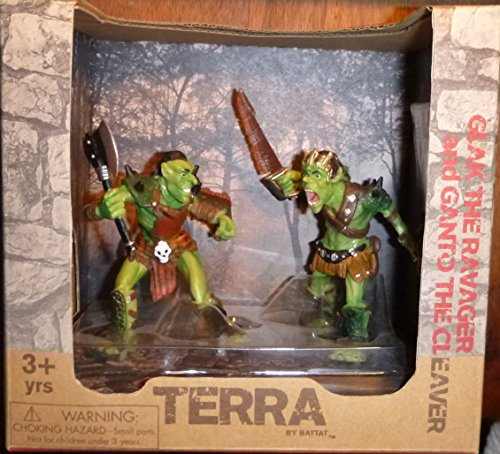 "Terra Fantasy 3"" Goblin Figures Set - Glak the Ravager & Ganto the Cleaver 1:40 scale - 1"