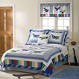 Fly Away Twin Quilt with Pillow Sham