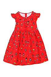 Chalk by Pantaloons Girl's Skater Dress (205000005644819, Red, 2-3 Years)