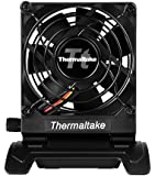Thermaltake Mobile Fan III Portable Desk Fan with Directional Fan Swivel, Compact Design, and Mini-USB to USB Retractable Cable Cooling AF0064 Black