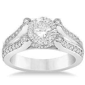 Allurez - Solitaire Diamant-Verlobungsring Split Schaft Platinum 0.50ct