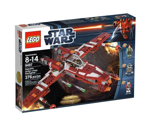 gadget geek - lego star wars 9497 jeu construction republique striker class starfighter