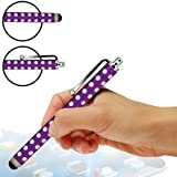 Sleek Gadgets® - Premium Edition Purple Polka Dots Stylus Pen with Soft Rubber End for New Tesco Hudl 7