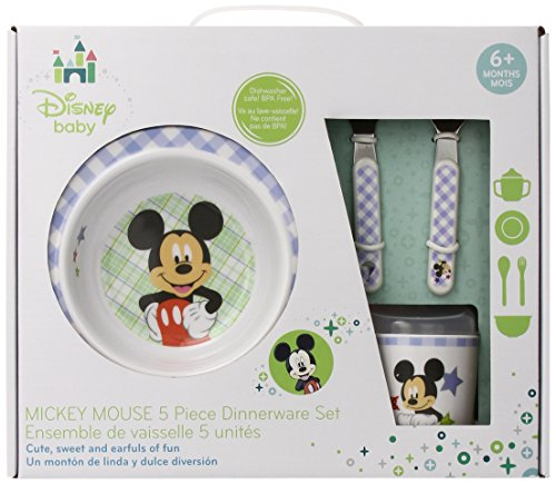 Kids Preferred Disney Baby Melamine Set, Mickey Mouse