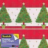 Scotch Gift Wrap, Festive Trees Pattern, 25-Square Feet, 30-Inch x 10-Feet (AM-WPFT-12)