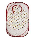 Wonderkids Bear Print Baby Bedding Set With Mosquito Net - Red